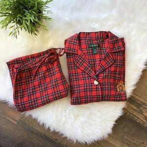 Lauren Ralph Lauren | Red Plaid Pajama Set